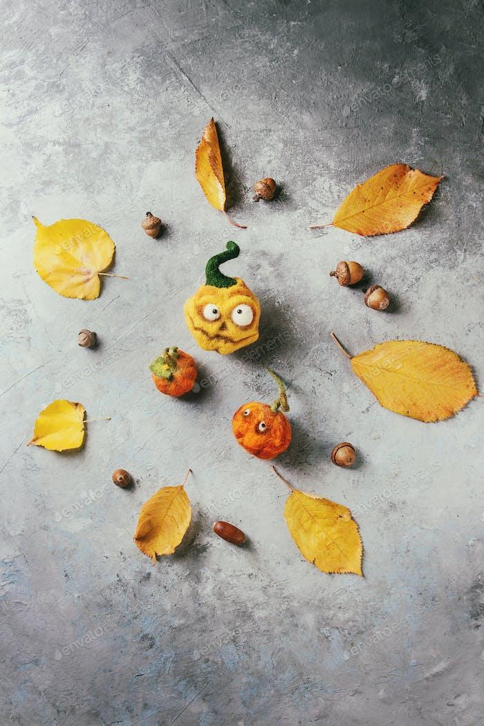 Halloween Nadel gefilzt Kürbis