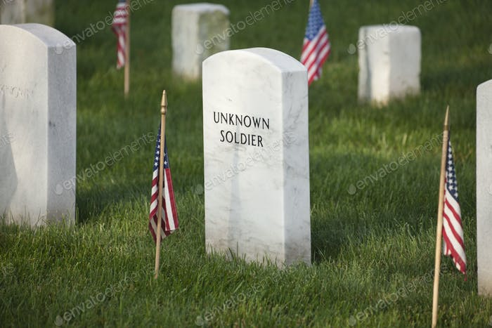 Tombstone of an Unknown Soldier at Arlington National Cemetery