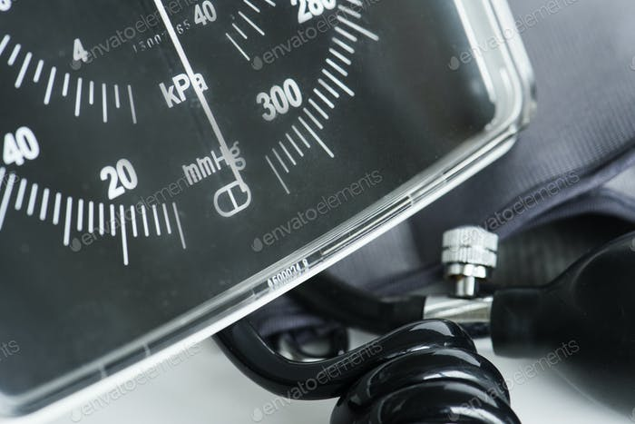 Closeup of manometer tool