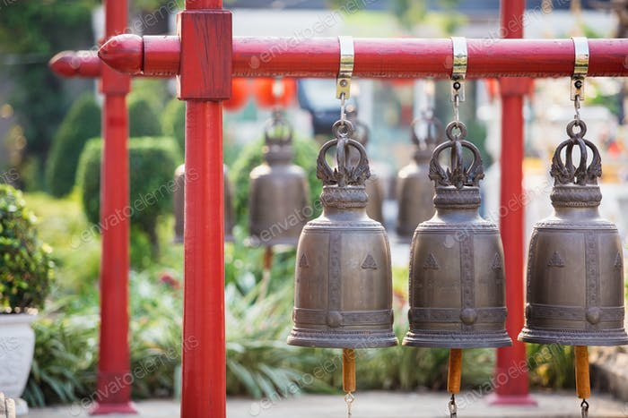 Bells in the temple at Thailand