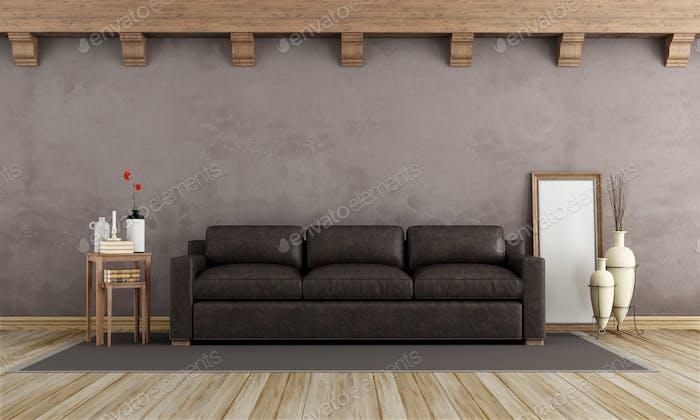 Brown vintage interior