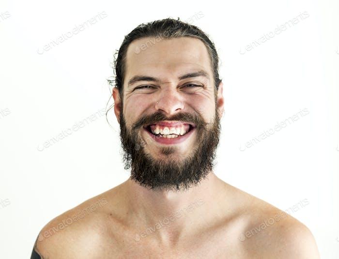 Portrait of tattooed man
