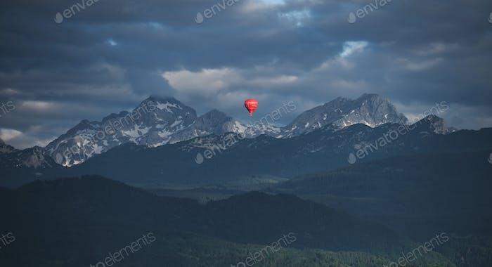 Ballon in the mountains