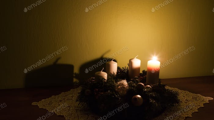 Advent wreath with four candles