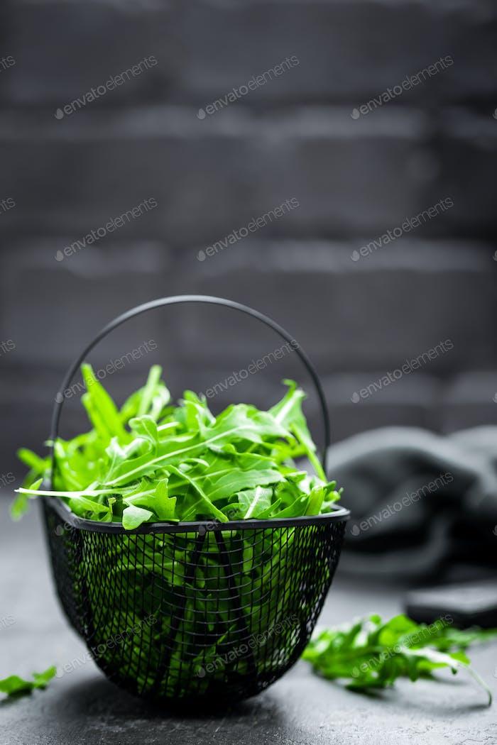 Arugula leaves, rucola