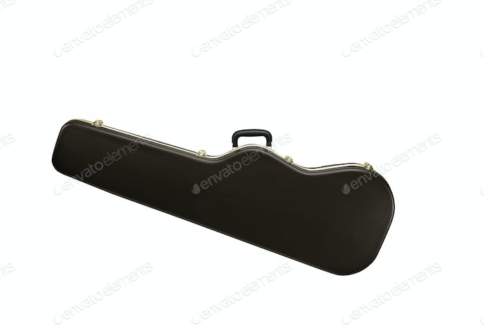 Guitar case isolated on white