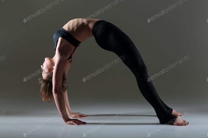 Girl dancer warming up