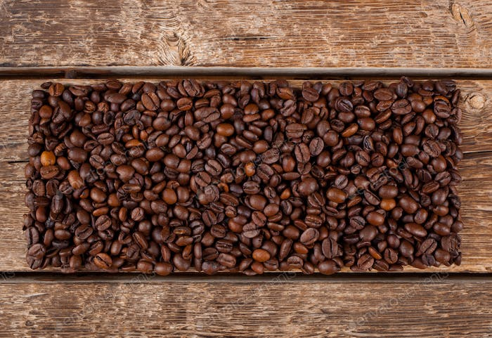 Rectangular shaped of coffee beans