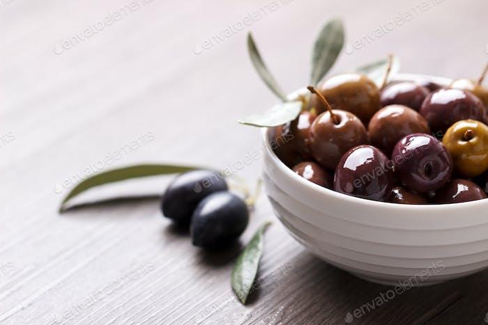 Marinierte Oliven