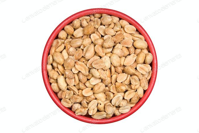 Schüssel mit Erdnüssen