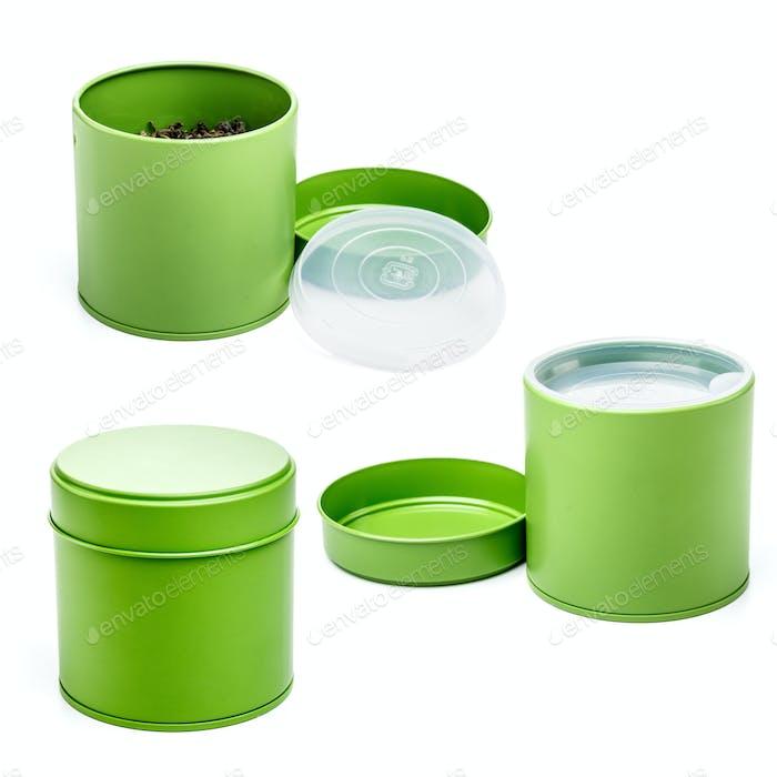 Green box for tea