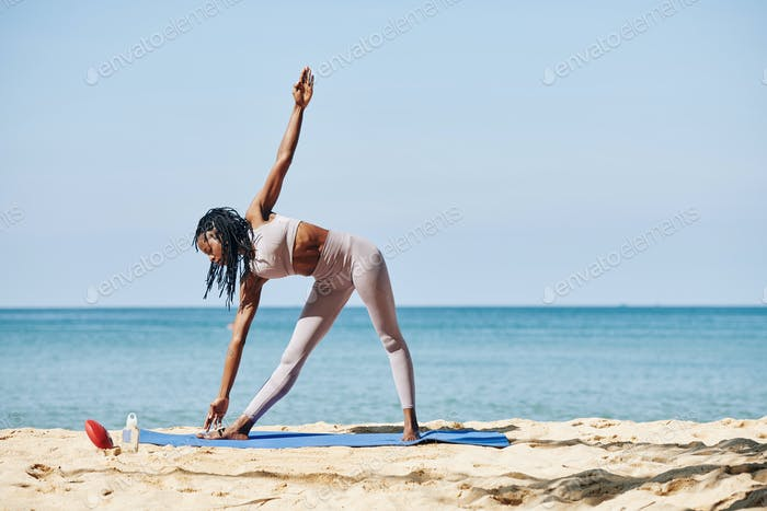 Stretching pretty yogi