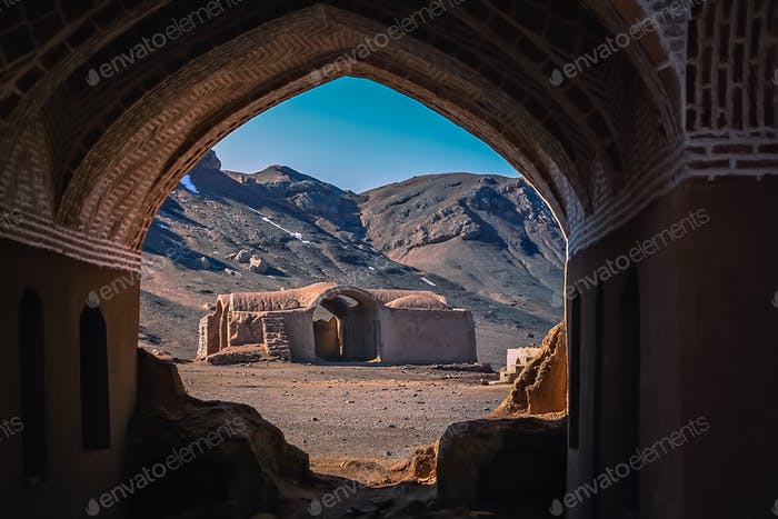Ruins of the Zoroastrian Fire Temple in Yazd