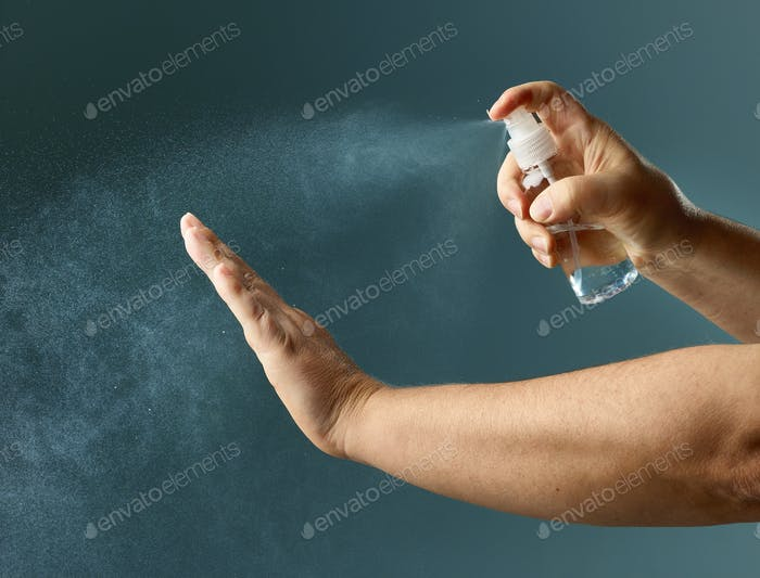 hand sanitizer spry