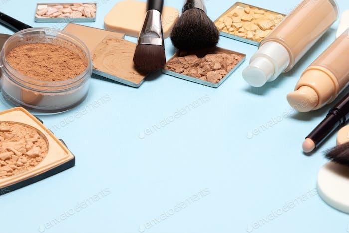 Make-up-Produkte mit Kopierraum
