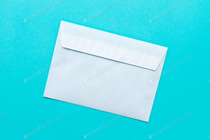 White mail envelope mock up