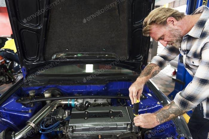Auto Repair Shop Mechanic Technician Concept