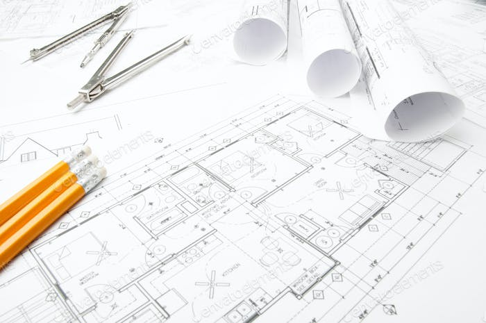 Construction planning drawings