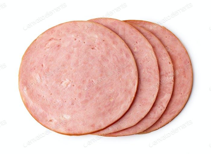 boiled ham sausage slices