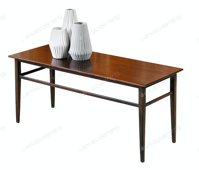 Small rectangular mahogany coffee table
