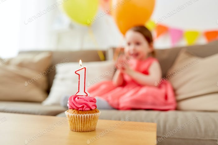 birthday cupcake for child one year anniversary