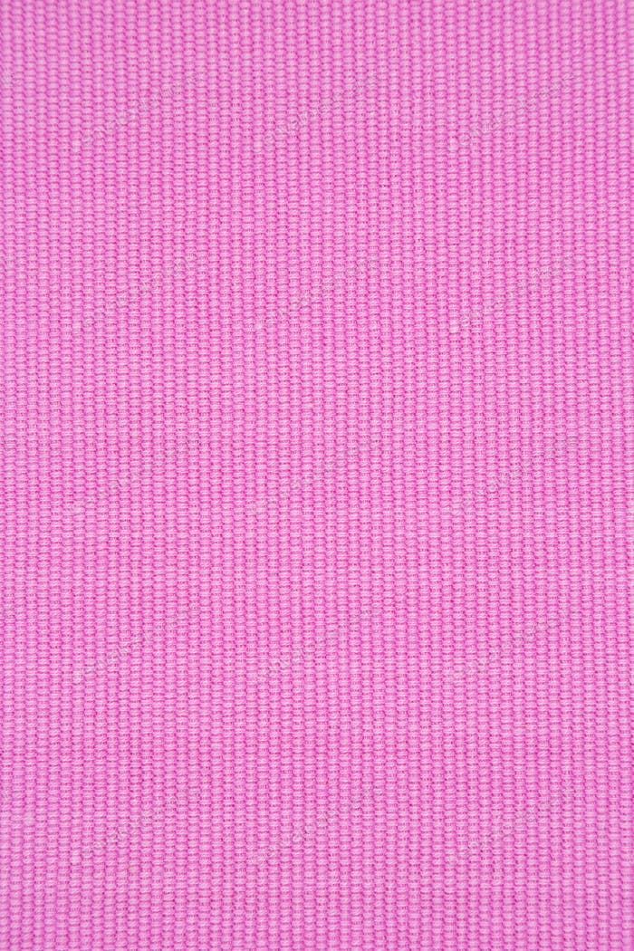 Ribbed pink cotton placemat texture