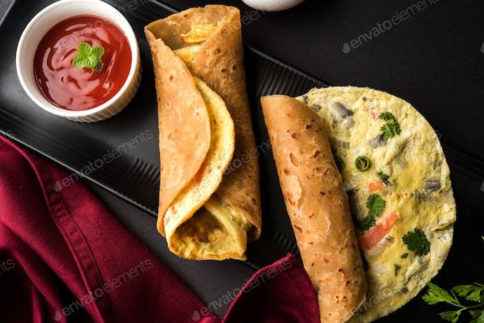 Omelette Chapati Toll