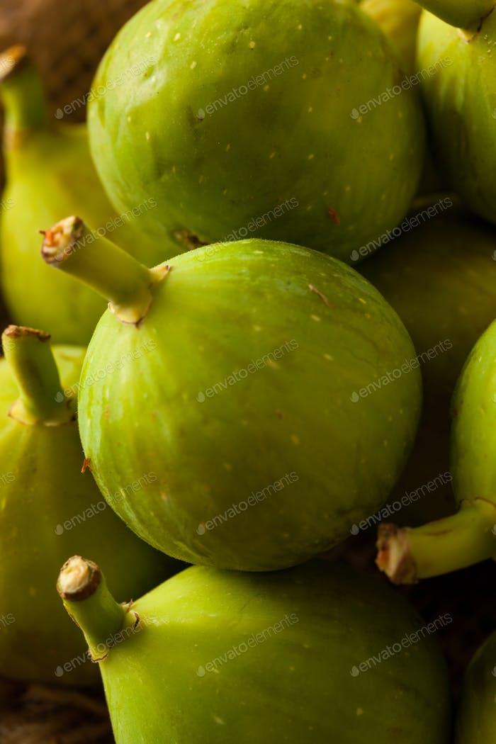 Healthy Organic Green Figs