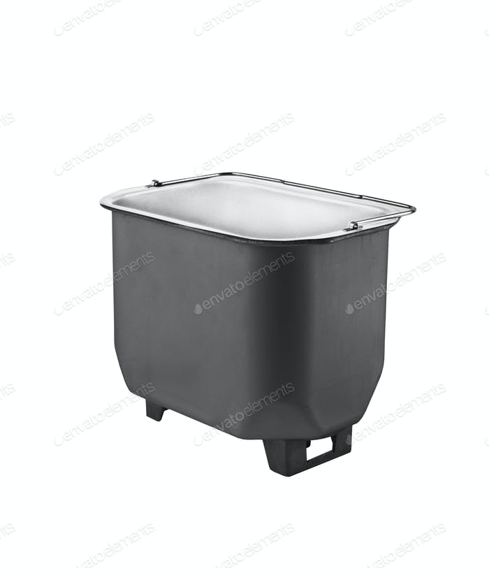 Deep fryer part. On white background