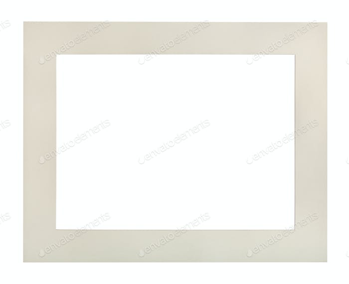 wide flat white passe-partout for picture frame
