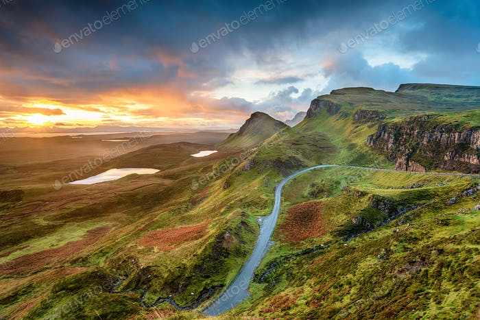 Stunning sunrise over the Quiraing