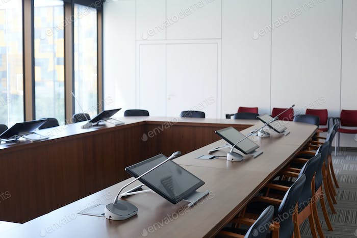 Board room at modern office