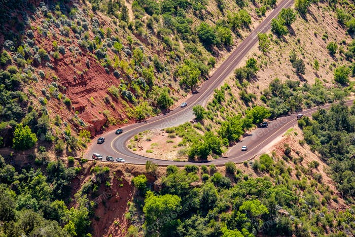 Landschaftlich reizvolle Autobahn in Utah