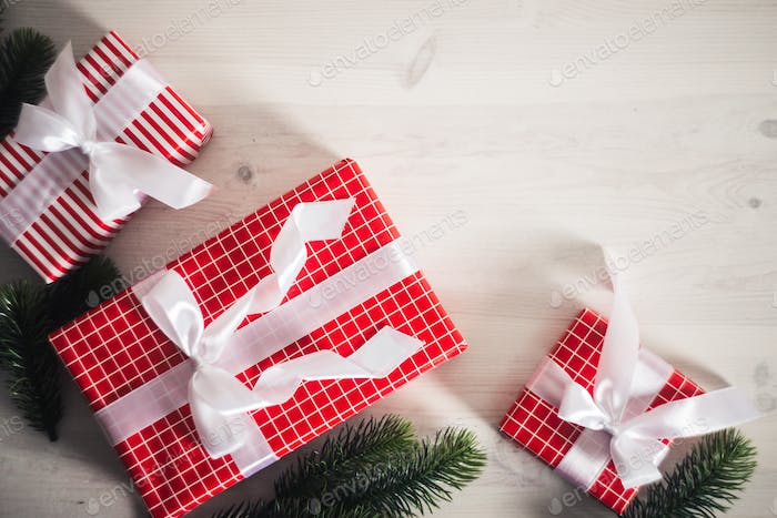 Christmas and New Year gifts under the tree