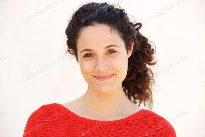 attractive  young woman smirking