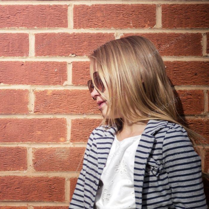 Fashionista Girl Child Adorable Cute Concept