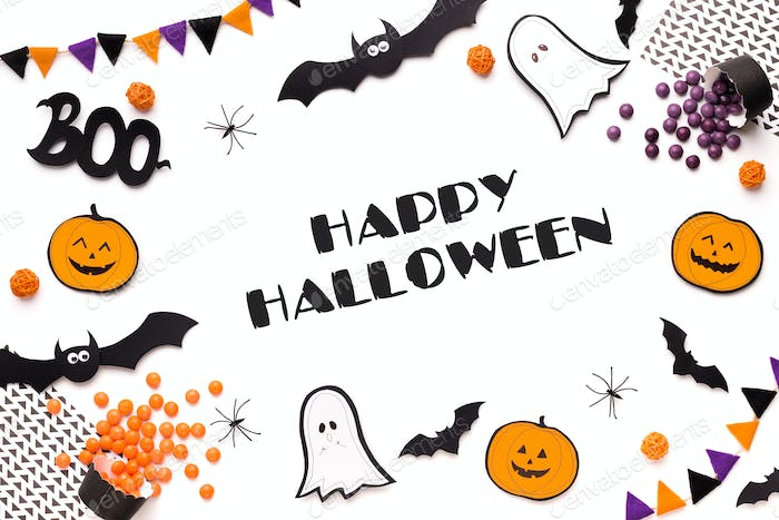 Big Halloween banner for advertising and invitation on party