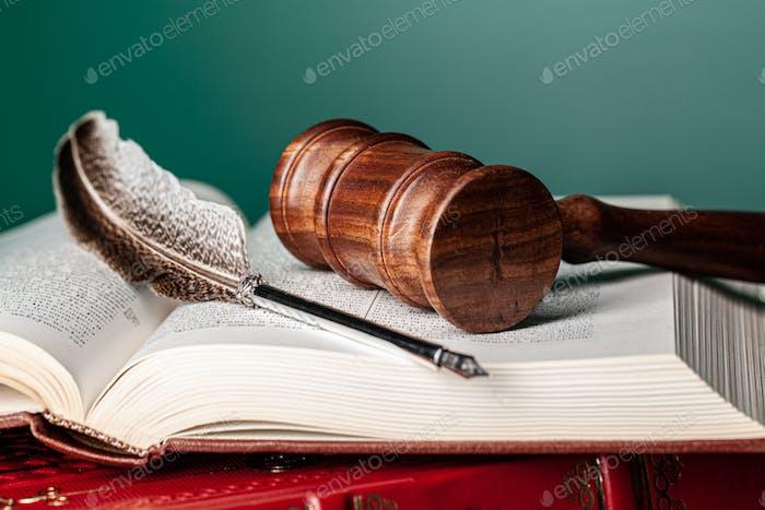 Mallet eines Richters, Nahaufnahme erschossen