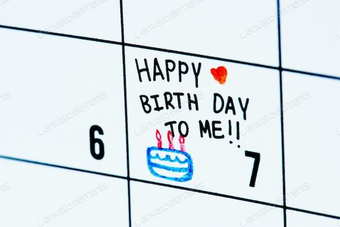 Geburtstagskalender Erinnerung