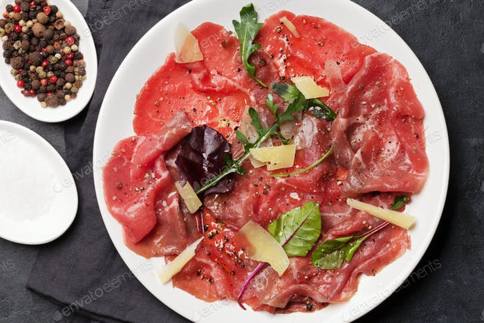 Marbled beef carpaccio
