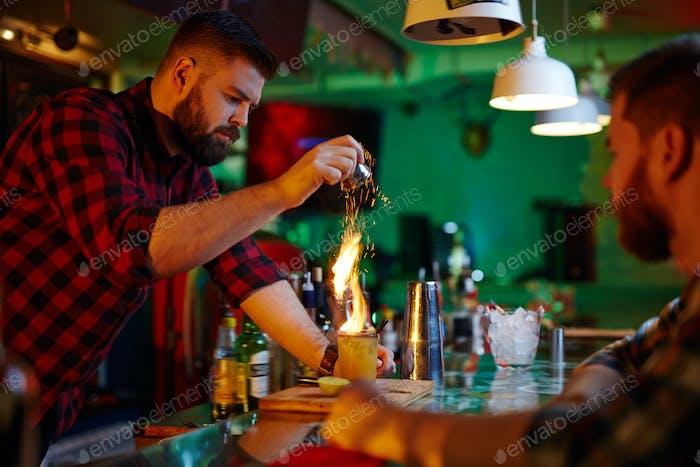 Trinken mit Flamme