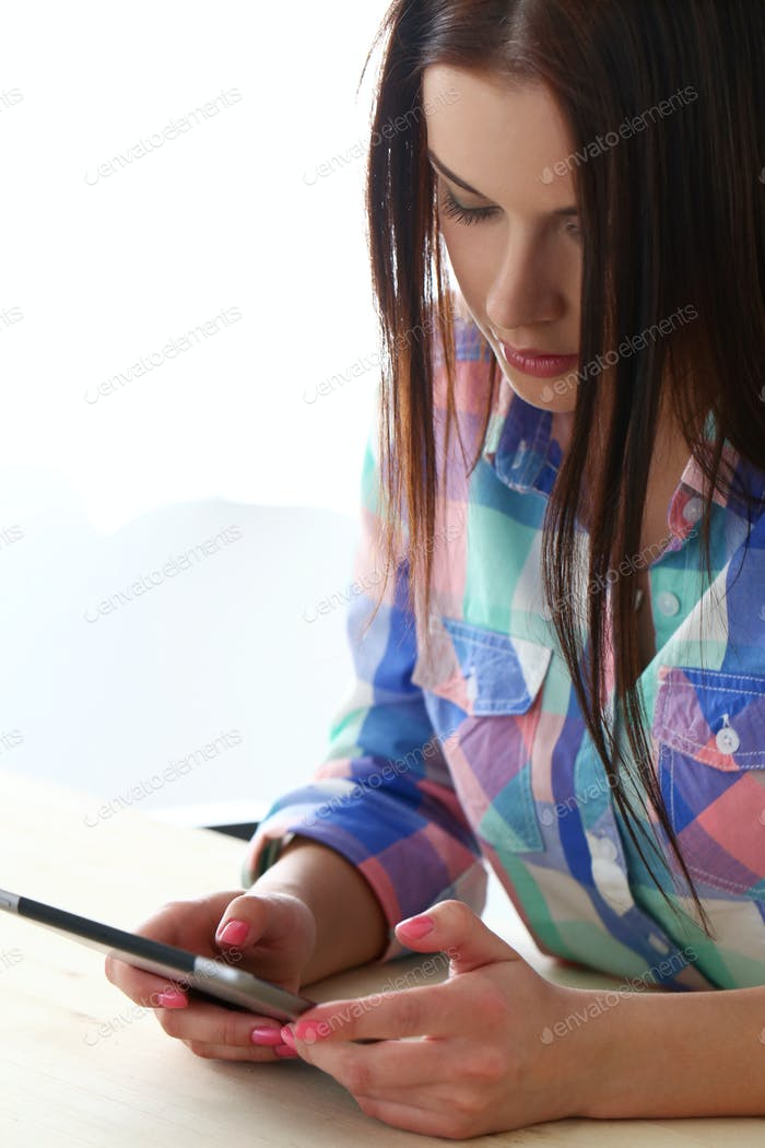 Beautiful girl with tablet
