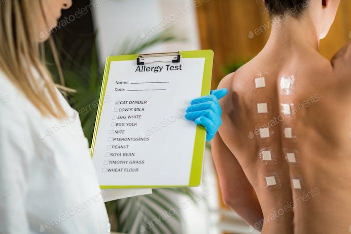 Doctor Doing Skin Allergy Test