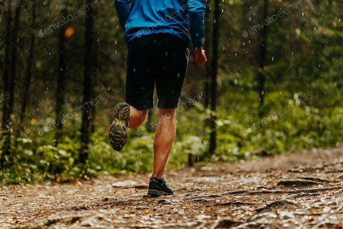 Männliche Läufer Athlet Laufen