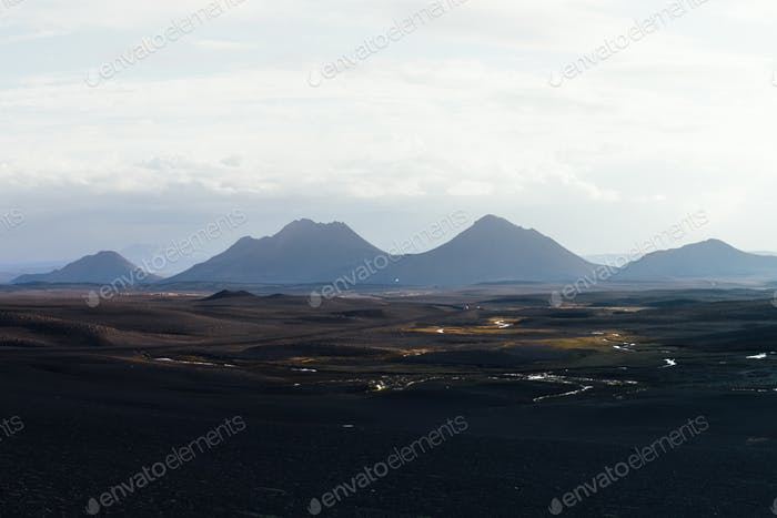 Typical Iceland landscape