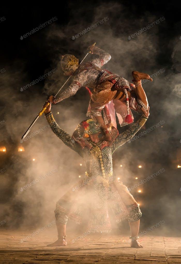Khon, pantomime performances action of Thailand, a kind of Thai drama
