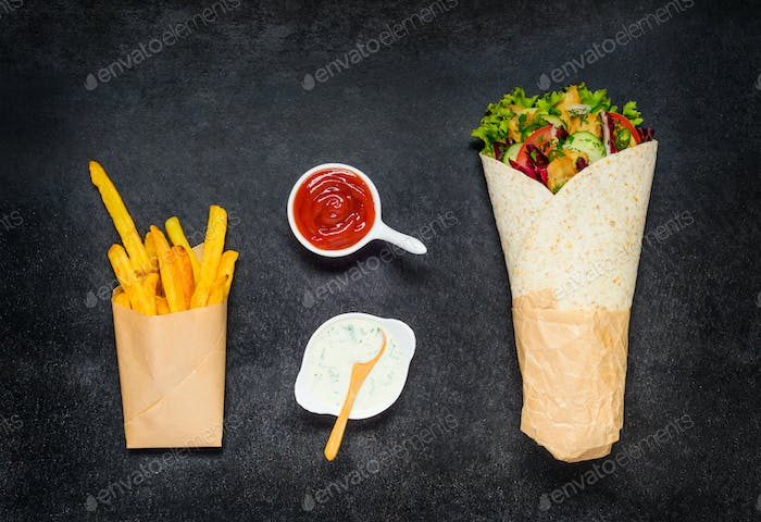 Shawarma and French Fries