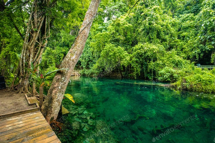 Rarru Rentapao Cascades, Waterfall and the River, Teouma village, Efate Island, Vanuatu