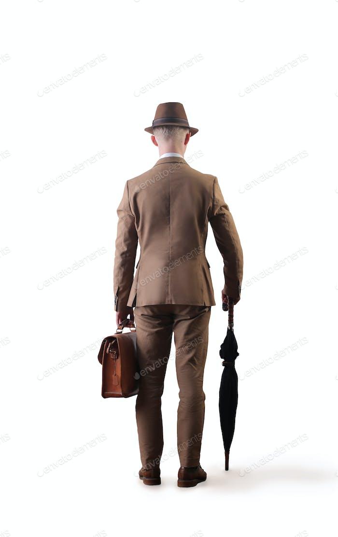 Elegant man from behind
