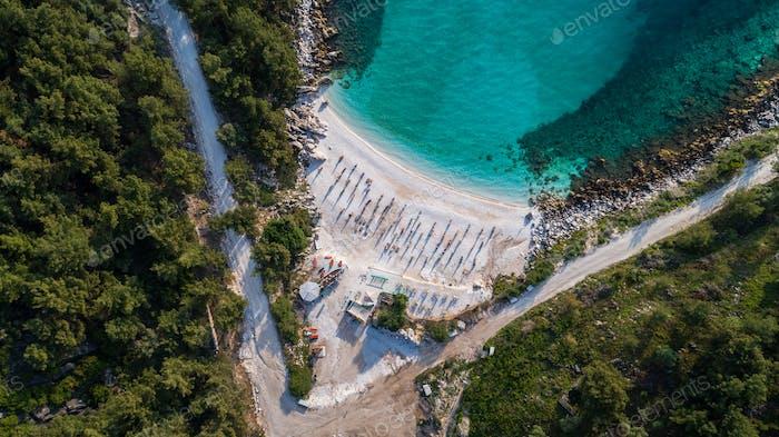 Marble beach (Saliara beach), Thassos Inseln, Griechenland